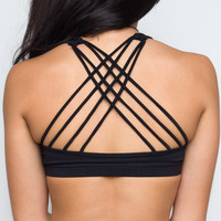 Dazzle Me Sports Bra - Black
