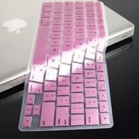 TopCase METALLIC PINK Keyboard Silicone Cover Skin for Macbook Pro 13, 15, 17 inches with TOPCASE Logo Mouse Pad