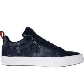 DCKL9 Converse All Star Chuck Taylor Fulton Oxford - Navy Printed Canvas/Leather Sneaker
