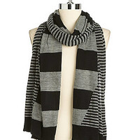 Jewelry & Accessories   Scarves    Mixed Striped Scarf   Lord and Taylor