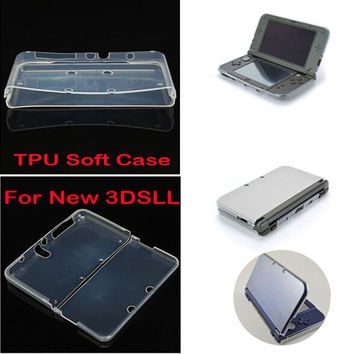 Transparent Soft TPU Clear Case Protective Cover Shell for Nintendo NEW 3DS XL LL 3DSXL 3DSLL Console Crystal Body Protector
