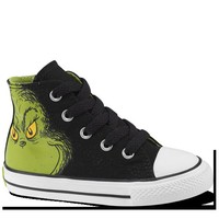 Converse - All Star Dr. Seuss- Grinch (Kids 1-3.5 yr) - Hi - Black/Print