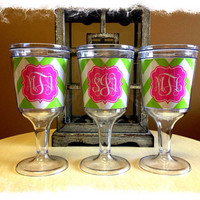 Personalized Wine Tumbler Monogrammed Wine by SassySouthernGals