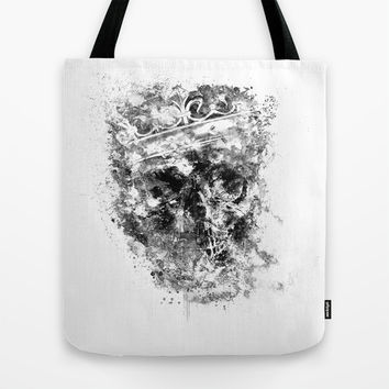 King Dusty - BW ED Tote Bag by HappyMelvin Protanopia