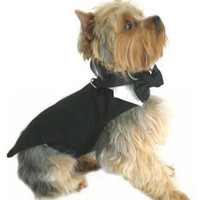 Dog Tuxedo, Tuxedos For Dogs With Formal Tails, Top Hat and Bow Tie, Pet Tux, Puppy Formal Wear