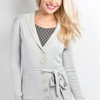 Wrapped Up Cardi- Grey Violet