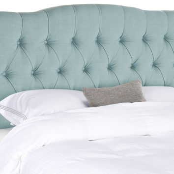 Axel Sky Blue Tufted Headboard King