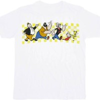 Popeye Characters Marching White T-shirt