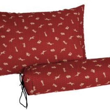 "J-Life Usagi ""Bunny"" Red Buckwheat Hull Pillow"