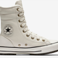 Converse Chuck Taylor All Star Leather Faux Fur High Rise Women's Boot Sand Colored
