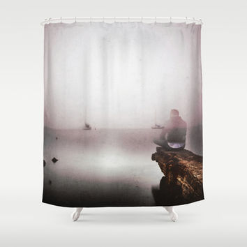 Mourning Shower Curtain by HappyMelvin