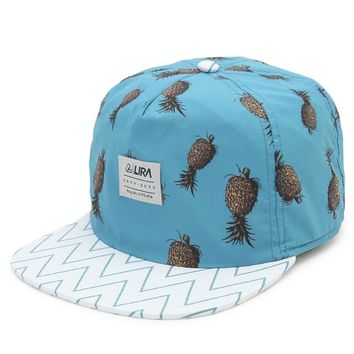Lira Pineapples Snapback Hat - Mens Backpack - Blue - One
