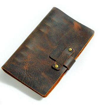 Refillable Leather Travelers Journals Diary