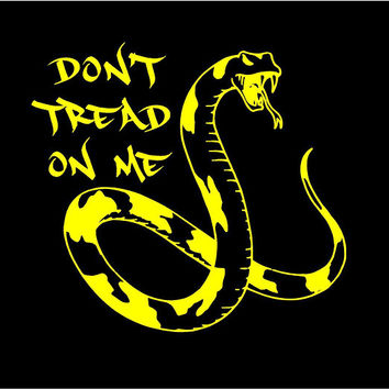 Don't Tread On Me decal Don't Tread On me Car Decal Snake Decal Don't Tread on Me Sticker Don't Tread on Me custom decal Vinyl Decal
