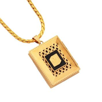 New Arrival Gift Jewelry Stylish Shiny Alloy Box Necklace [10819552259]