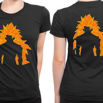 DCCKG72 Super Saiyan Goku 2 Sided Womens T Shirt