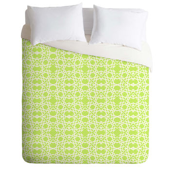 Lisa Argyropoulos Electric In Honeydew Duvet Cover