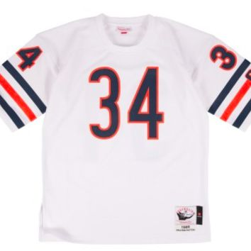 KUYOU Chicago Bears Jersey - Walter Payton White Throwback Jersey