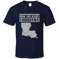 Youth Louisiana Born & Raised Vintage T-Shirt