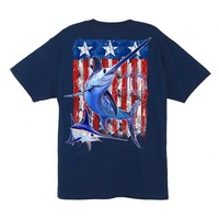 Guy Harvey Men's Swordfish Flag Short Sleeve T-Shirt