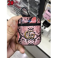 GUCCI Cool Double G Snakeskin iPhone Airpods Headphone Case Wireless Bluetooth Headphone Protector Case Anti-Fall Protective Case(No Headphones) 2#