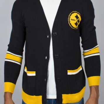 NFL Pittsburgh Steelers Unisex Intarsia Cardigan -  - Junk Food Clothing