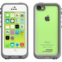 LifeProof FRE iPhone 5c Waterproof Case - Retail Packaging - WHITE/CLEAR