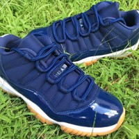 Air Jordan 11 Retro Low Navy Gum AJ11 Sneakers - Best Deal Online