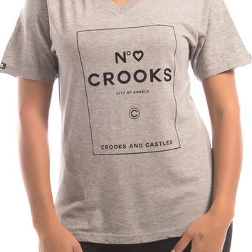 The City Of Angels V-Neck Tee in Heather Gray