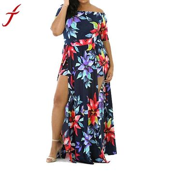 Sexy Plus-size off the shoulder romper