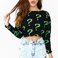 The Riddler Crop Top