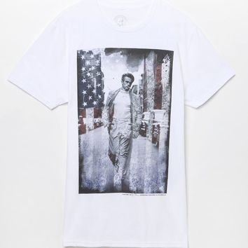 American James Dean T-Shirt - Mens Tee - White