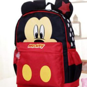 2017 Cartoon Mickey children backpacks/kids kindergarten backpack