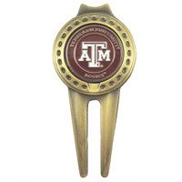 Texas A&M Aggies Divot Tool with Double Sided Golf Ball Marker