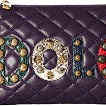 Dolce & Gabbana Womens Quilted Nappa with Dolce Studded Patch Chain Mini Bag