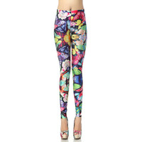 Colorful Butterfly Leggings - Yoga Leggings - Yoga Tights - Workout Leggings - Art Leggings - Running Leggings