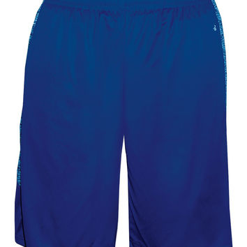 Badger 2195 Blend Panel Youth Short - Royal Royal Blend