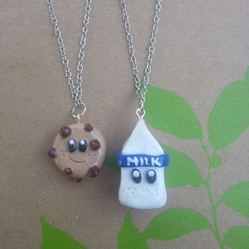 Milk and Cookie Best Friend Necklaces by grimspot on Etsy
