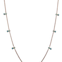 Chrysoprase and Turquoise Stacked Station Necklace