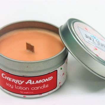 Cherry almond lotion candle