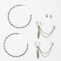 All Mixed Up Earring Set - Urban Outfitters