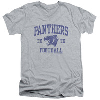 FRIDAY NIGHT LIGHTS/PANTHER ARCH - S/S ADULT V-NECK 30/1 - HEATHER - SM