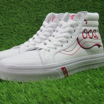 Kith x Coca-Cola x Vans High Top Sneaker Flats Shoes Canvas Sport Shoes