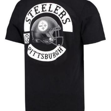 DCCKG8Q NFL Pittsburgh Steelers Vintage Black And White T-Shirt