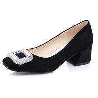 Square Toe Leather Shoes [4919950980]