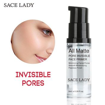 SACE LADY Face Base Primer Makeup 6ml Liquid Smooth Fine Lines Oil-control Brighten Nake Foundation Facial Cream Cosmetic