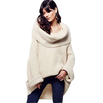 Oversized Asymmetrical Knitted Sweater