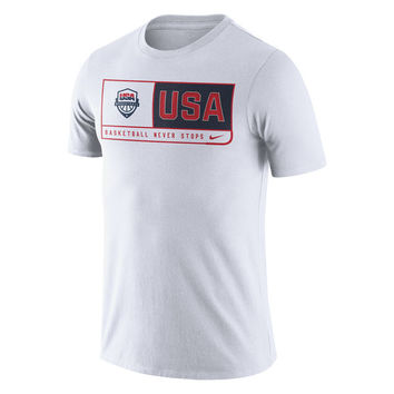 Men's Nike White USA Basketball Team Dri-FIT T-Shirt