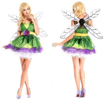 Elf Cosplay Anime Cosplay Apparel Holloween Costume With Wing [9220298436]