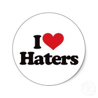 I Love Haters! Stickers from Zazzle.com